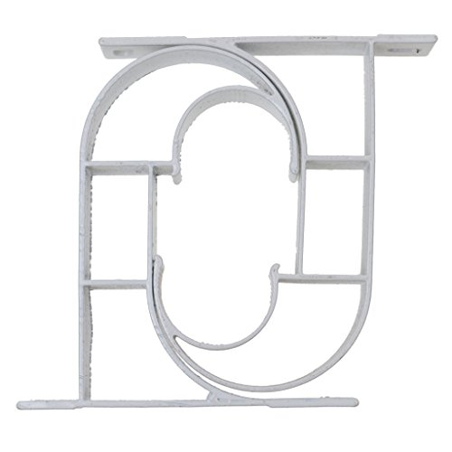 Preisvergleich Produktbild Sharplace 2 Stk Legierung Wandhalter Gardinenstange Brackets Wandhalterung Vorhang Drapierung Haken Weiß