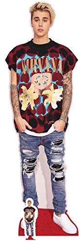 Bieber - Ripped Jeans - Prominente Star VIP - Pappaufsteller Standy - 53x176 cm ()