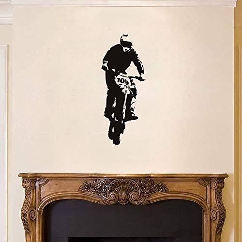 jiuyaomai Motorrad Fahrt Vinyl Wandaufkleber Aufkleber Aufkleber Schlafzimmer Kindergarten Schmutz Sport Bike Decor Kinder Jungen Zimmer Design Tapete Pink 42X90 cm (Boxer Keine Fahrt)