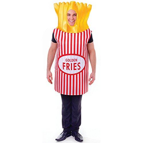 Pommes Kostüm Für Erwachsene - Bristol Novelty AC555 Pommes Kostüm, Mehrfarbig,