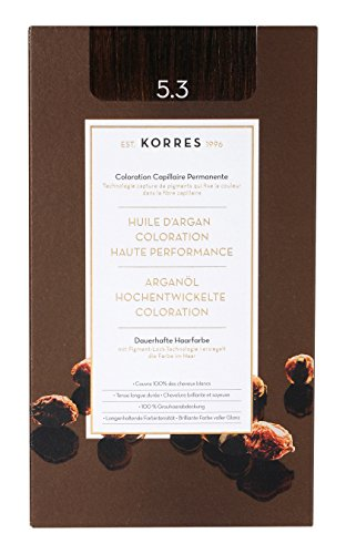 Korres Argan Öl hochentwickelte Coloration, golden/ honey light brown 5.3, 145ml -