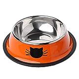 Ciotola per cibo per cani e gatti, spessa e antiscivolo, in acciaio inox. Red