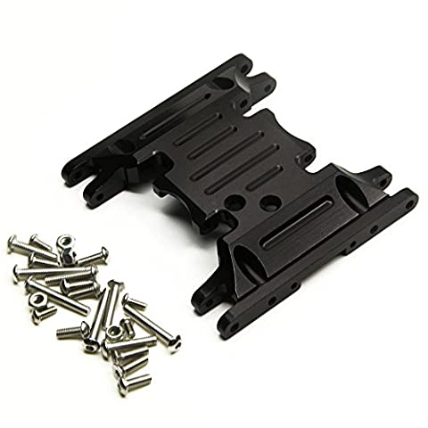 1/10 Crawlers Car Parts Aluminum Alloy Center Skid Transmission Plate for RC Axial SCX10 90046