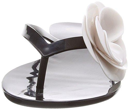 Mel Honey 3, Chaussures de piscine et plage femme Noir (Black Flower)