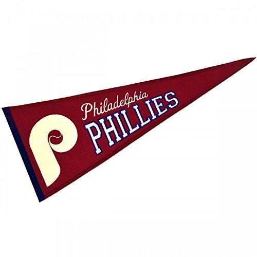 MLB Baseball Banner Wimpel Pennant PHILADELPHIA PHILLIES Cooperstown Wool Blend