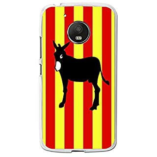 Flexible Protective Shell Case with Catalan Ane Flag Design for Motorola Moto G5 Plus