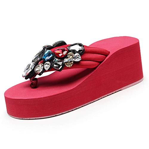 Frauit sandali gioiello infradito donna eleganti con strass ciabatte donne estive mare pantofole donna estivi da casa sandali estivi donna zeppa eleganti scarpe da spiaggia e piscina flip flops