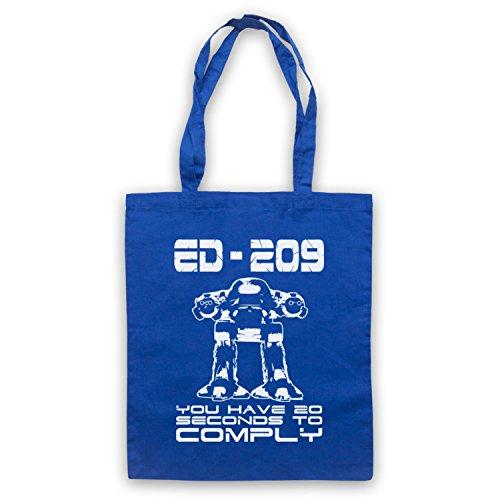 Inspiriert durch Robocop ED 209 Inoffiziell Umhangetaschen Blau