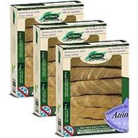 Ventresca de Atun con Verduras de Mar - Caja de 330 gr - Conservas La Chanca (Pack de 3)