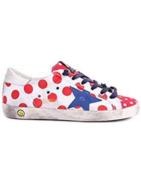 Golden Goose Superstar Low Top Sneakers White Red Pois Sneaker Tela G28KS502.Q3