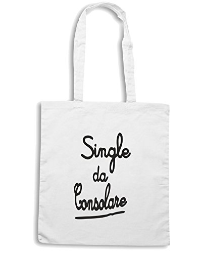 T-Shirtshock - Borsa Shopping TDM00252 single da consolare Bianco