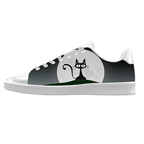 Custom Cartoon gatto Men s Canvas Shoes Scarpe Lace Up High Top Sneakers a vela panno scarpe Scarpe di tela sneakers d