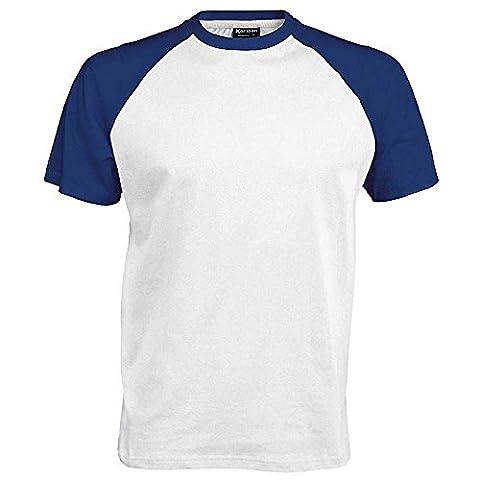 Kariban T-shirt de baseball pour homme Manches courtes Coton Multicolore Multicolore Small