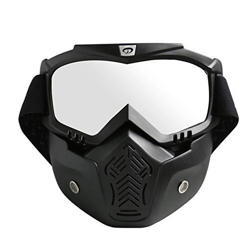 Fahrradbrille Klar Radfahrenbrillenmotorrad Schutzbrillen Im Freien Schutzbrillenlokomotive Retro Maskenbrillen Maske Reiten Black Silver Damen Herren