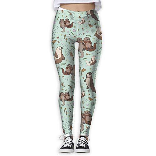 766ab83d795efe Nicegift Sea Otters Women Fitness Yoga Leggings Sport Yoga Pants Medium