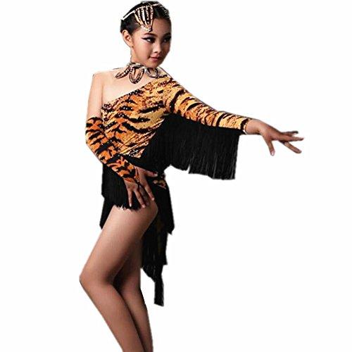 Diamant Mädchen Latin Dance Kostüme . 1 . L (Tiger Dance Kostüme)