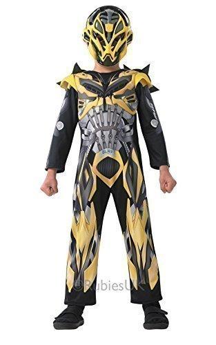 Junge Kostüm Transformer (Offiziell Lizenziert Jungen Transformers Gelb Hummel Robot Büchertag Woche Halloween Kostüm Kleid Outfit - Gelb, Gelb, 3-4)