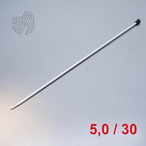 Lana Grossa Tunesische Häkelnadel Aluminium 5,0mm -