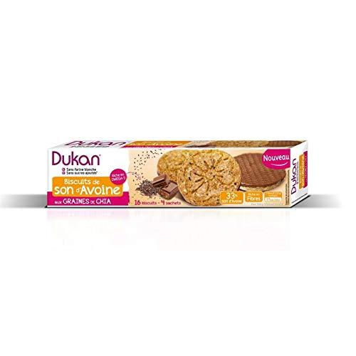 Dukan - Seine Kekse auf Hafer Chia Samen 160G - Packung mit 4 -