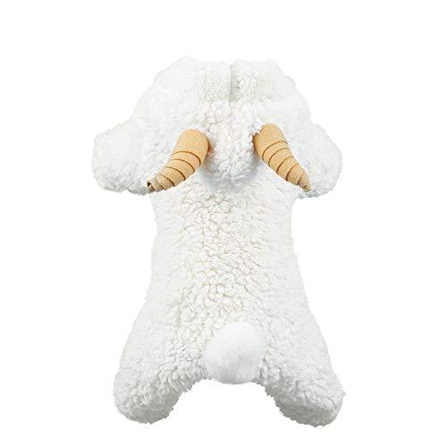 Festnight Weiches warmes Hundehaustier-Kleidung-KleidHoodie-korallenrote Vlies-kleine Hundewelpen-Mantel-Vier Bein-Entwurfs-reizende Schaf-Cosplay Kostüme (Kostüm Für Schaf Hund)