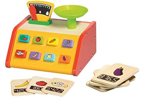 Playive® Echholz Lernspiel Spielzeug Zubehör Kaufmannsladen Laden ~ Waage