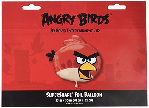 Generique - Angry Birds Aluminium Luftballon (Luftballons Angry Birds)