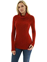 c01ed7221d PattyBoutik Mujer suéter de Punto Cuello de Tortuga