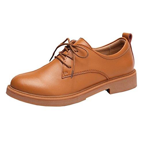 Kotzeb Chaussures Oxford Femme Faux Cuir Chaussures Derbies