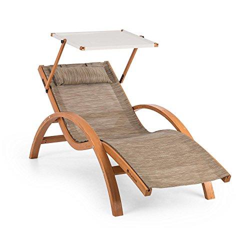 blumfeldt Acapulco • Gartenliege • Liegestuhl • Sonnenliege mit Dach • Sonnendach •...
