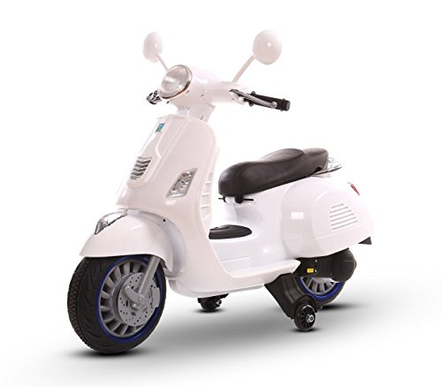LT 858 Electric Scooter for Children HAPPY Double Speed ​​Single Seater 6 / 12V (White)