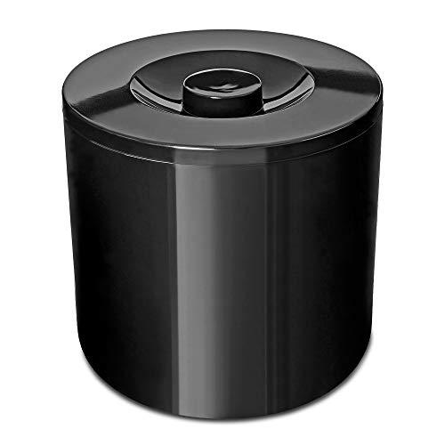 Eiswürfelbehälter 4 Liter Kühler Runde Eiskübel Eiseimer - Schwarz -