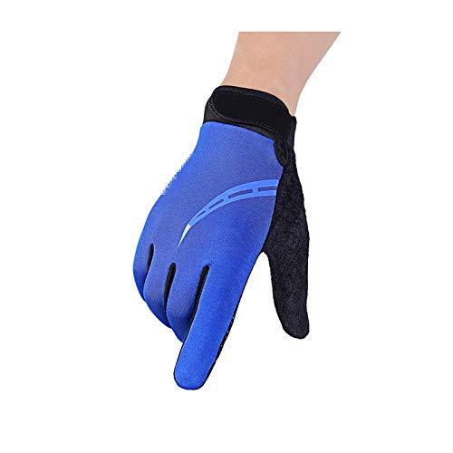 AmDxD Damen Fahrradhandschuh Winterhandschuhe Outdoor Sporthandschuhe Ecke Blau Handschuhe Größe Klein