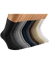 Vitasox Damen Socken Baumwolle uni Damensocken ohne Gummi ohne Naht 6er oder 12er Set in vielen Farben