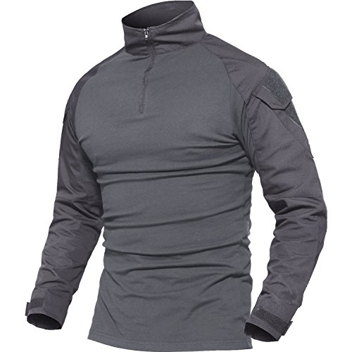 MAGCOMSEN Al Aire Libre Cámping Excursionismo Camisetas Hombres Manga Larga  Respirable Trabajando Disparo Alpinismo T-Shirts 2ec9b9561b3d6