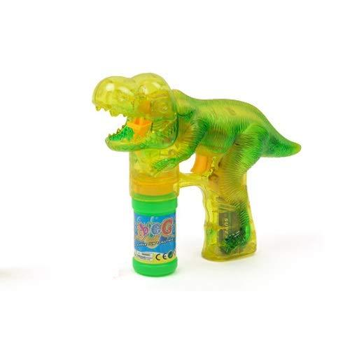 asen-Maschine mit beleuchtetem elektrischem beleuchtetem Musik-transparenten Dinosaurier-Blasen-Maschine ( Color : A ) ()
