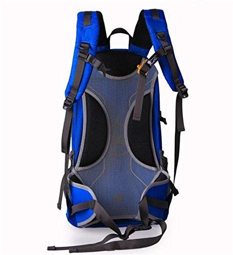 Großvolumige Außenberg Tasche Rucksack Freizeit-Reisetasche Blau