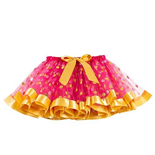 Rock Haustier Star Kostüm - Bunt Tüllrock Mädchen Regenbogen Tütü Kinder Tüllrock Ballettrock Tutu Regenbogen Rock Cosplay Tanz Party Karneval Halloween Verkleidung für Kinder Mädchen