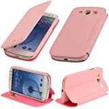 N15- Rosa tasche für Samsung Galaxy S3 i9300 i9305 Schutzhülle Hülle Schutzschale Schale Handytasche Flip Tasche Etui Case