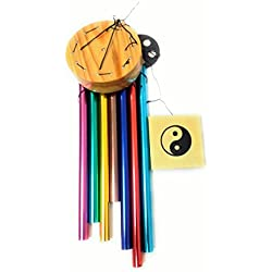Anish International Wind Chimes For Home Positive Energy 7 Color Pipes Windchimes For Balcony Bedroom With Good Sound
