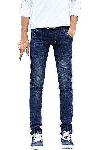 Menschwear Nuovo da uomo Denim Jean stretch Fit Dark Wash slim Tapered (31)
