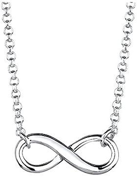 Elli Damen-Kette mit Anhänger Infinity Unendlichkeit 925 Sterling Silber 0109812914-38