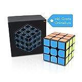 3x3 Zauberwürfel Original Cubo Cube – inkl. Gratis online Videokurs für Anfänger – Speed Cube mit lebendigen Farben – Speedcube 3x3 in Meisterschaftsgröße – Kein quietschen – Bombenfeste Aufkleber