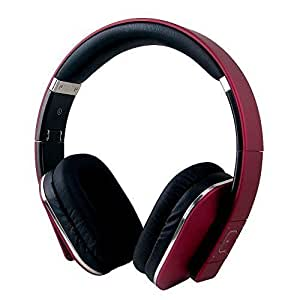 Over Ear Bluetooth Wireless Headphones - August EP650 - Enjoy Bass Rich Sound and Optimum Comfort from this Wireless Over Ear Headset with NFC and aptX - [Red]