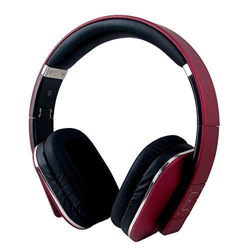 August EP650 – Auriculares Bluetooth NFC Inalámbricos con AptX, Color Rojo