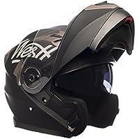 Westt® Torque · Casco modulare de moto nero opaco · Include occhiali da sole (doppia visiera) · ECE certificado · include borse · ideale per scooter choper moto · Urbano Moto motocicleta elmetto Biker