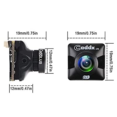 "FPV Camera Caddx Turbo Micro F2 1200TVL 2.1mm Lens FPV Cam 1/3"" CMOS Sensor 4:3 NTSC/PAL Switchable Super WDR OSD Mini FPV Camera With Microphone Racing Version for FPV Racing Drone Quadcopter"