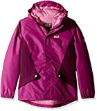 Jack Wolfskin Girls Kajak Falls Winter Sports Waterproof Hooded Coat, Dark Peony, 18-24 months - Waist 50cm, Height 92cm