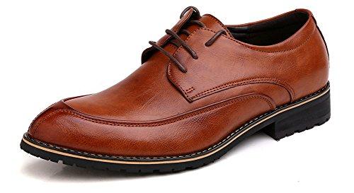 Anlarach Hommes Classique Brogue Mariage Business Cuir Pointe Toe Oxford Chaussures Marron