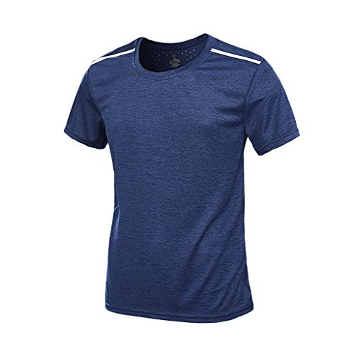Storerine Herren Sport T Shirt Fitness Funktion Training Running Tennis Sportshirt Männer Funktionsshirt Kurzarm Trainingsshirt Laufshirt schnell trocknend atmungsaktiv Top Bluse