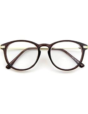 CN92 Klassische Nerdbrille rund Keyhole 40er 50er Jahre Pantobrille Vintage Look clear lens